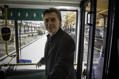 Mauricio Macri inaguró el Metrobus Sur