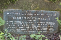 Photo of Frederick Stern bronze plaque