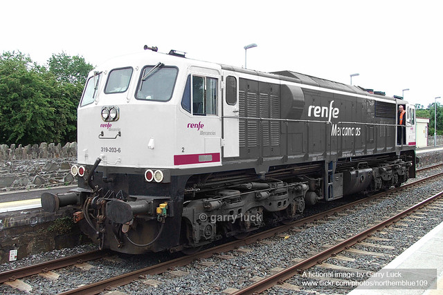 Renfe Spain General Motors Diesel Locomotive Fiction Flickr Photo Sharing