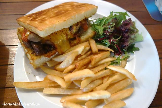 cheesy steak sandwich