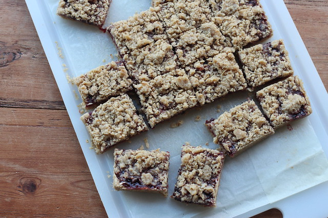 Oatmeal Cherry Jam Bars