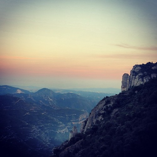 After sunset from the top of Montserrat...