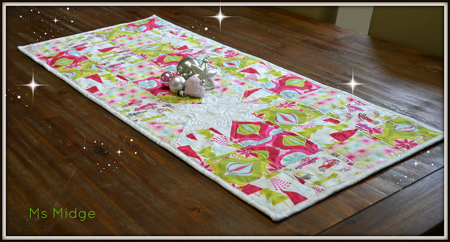 Hip holiday table runner