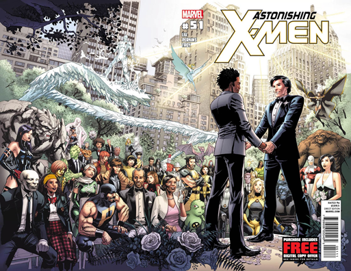 A same-sex wedding on the cover of Astonishing X-Men