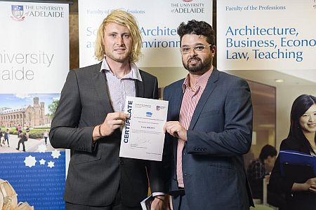 2012 Winner: Corey Brown  Presented by Kishan Sidhu (Business Development Consultant)