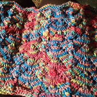 One birthday gift completed.  I love the colors and this yarn too.  Hopefully the birthday girl feels the same.