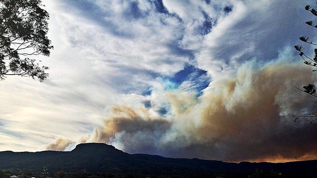 Smoke Over Mount Keira