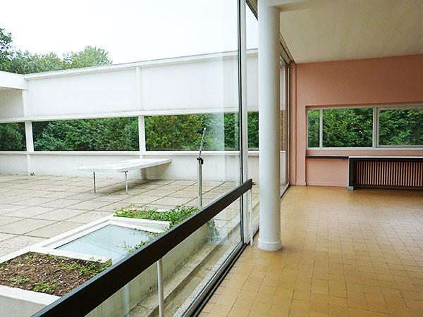 terrasse de la villa savoye