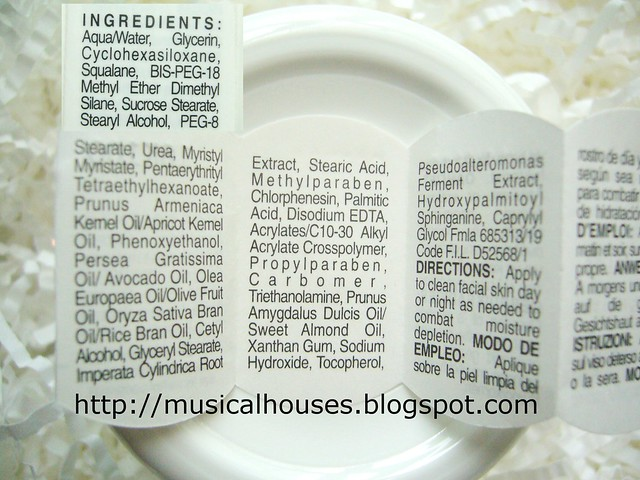 Kiehls Ultra Facial Cream ingredients