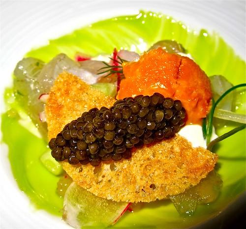 tai snapper with caviar