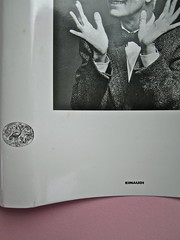 Alfabeto Poli, a cura di Luca Scarlini. Einaudi 2013. [responsabilità grafica e iconografica non indicata]. Fotog. di cop.: ritr. b/n di Paolo Poli di Guido Harari. Dorso e prima di sovracoperta (part.), 3