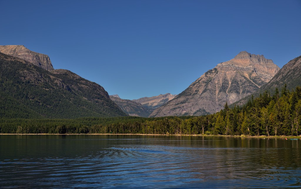 Mountains and Lake McDonald (Glacier National Park)