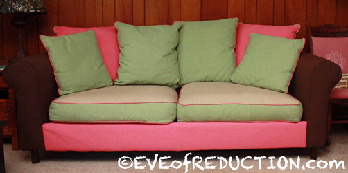 Reupholster couch cushions without sewing tables