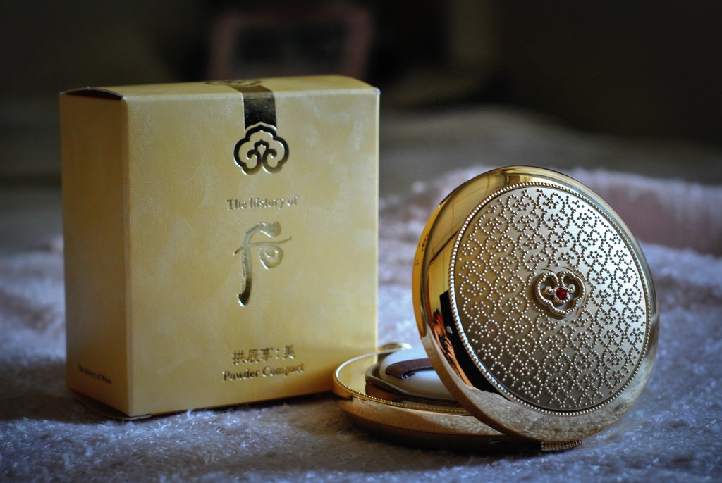 the history of whoo gonjinhyang mi powder compact