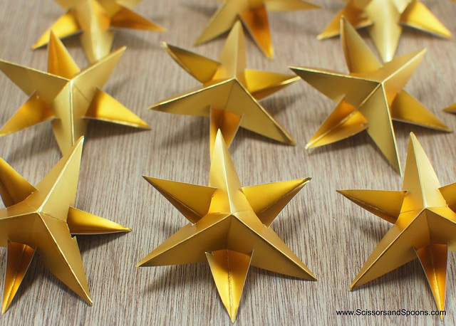 DIY Paper Star Garland or Ornaments