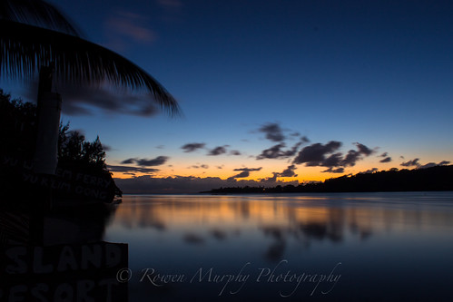 blue sunset vacation orange holiday beach water night island honeymoon dusk sunsets resort vanuatu erakor