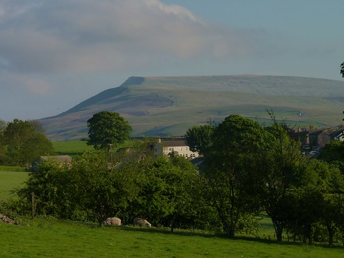 Wild Boar Fell above the village of Nateby