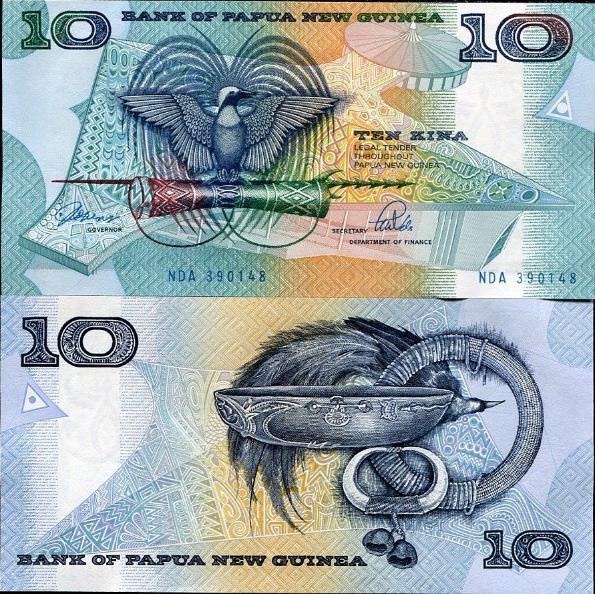10 Kina Papua Nová Guinea 1985-1999