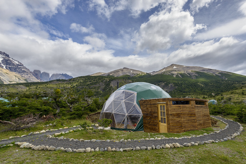 EcoCamp Patagonia Yoga classes in the heart of Torres del Paine National Park