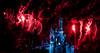 Fireworks behind Cinderella Castle