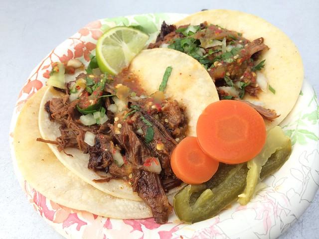 Taco de chivo - El Norteno Taco Truck