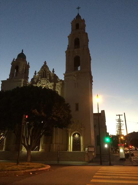 Mission Dolores at dusk