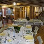Thanksgiving tables set