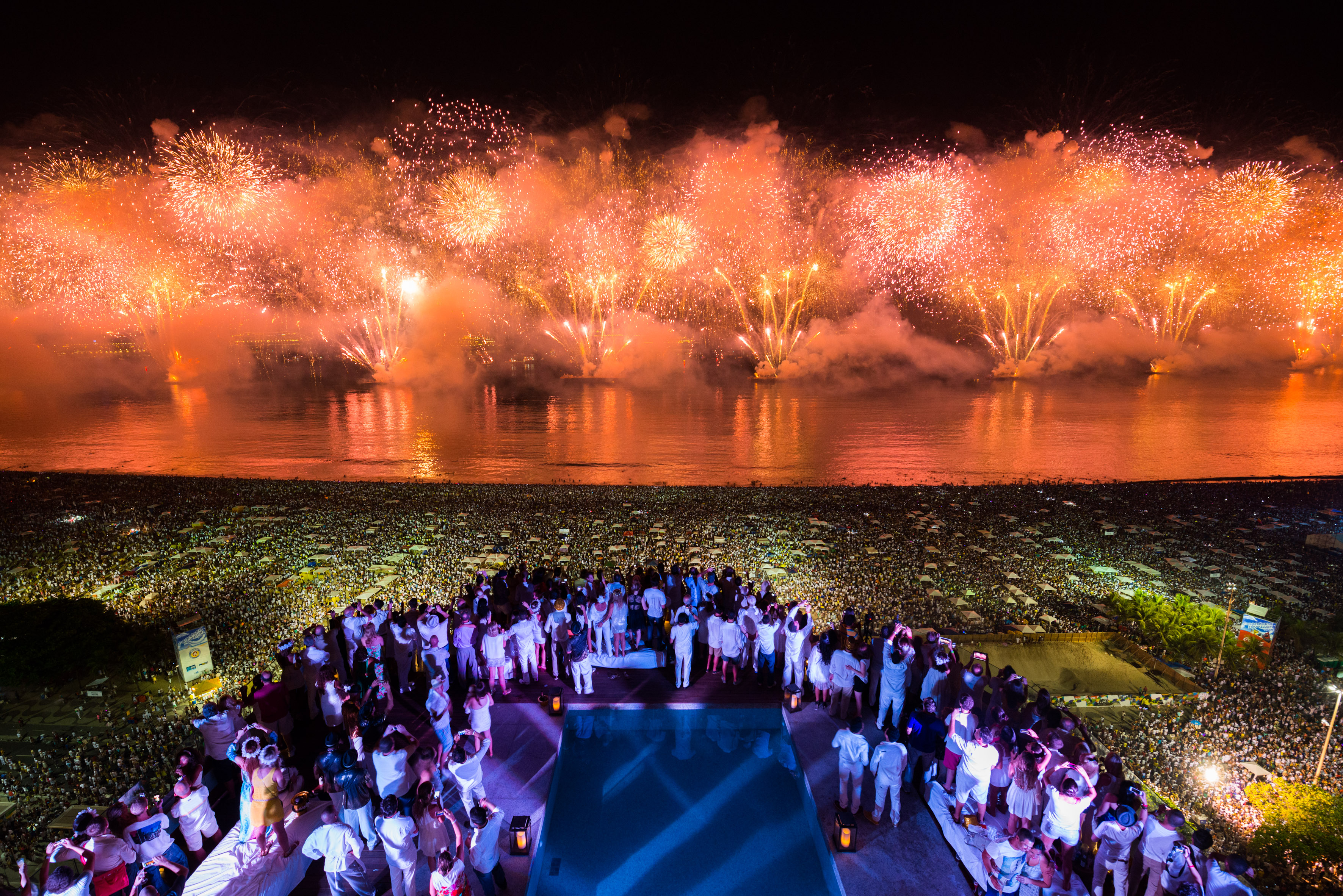 New Year's Eve at Brazil's Copacabana - photo by: PortoBay Events via Flickr