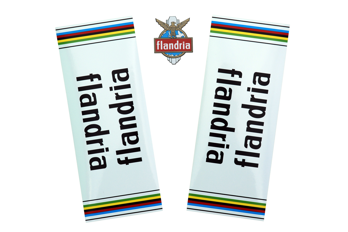 Vintage flandria bike replacement decals stickers 1970s ebay for Telephone mural 1970