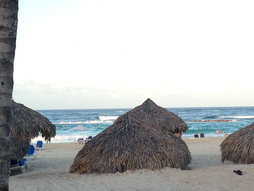 Tiki Huts on Beach at Hard Rock Hotel - Punta Cana