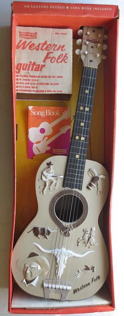1966 Emenee Vintage Western Folk Guitar