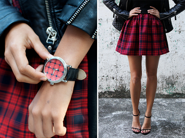 how to make a two tone tartan skirt