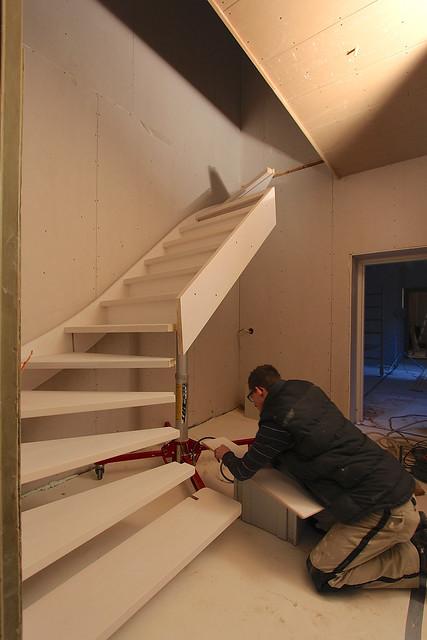 nieuwe trap plaatsen in het achterhuis flickr photo