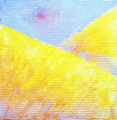 Golden Mountains (Mini-Painting as of Jan. 2, 2014) by randubnick