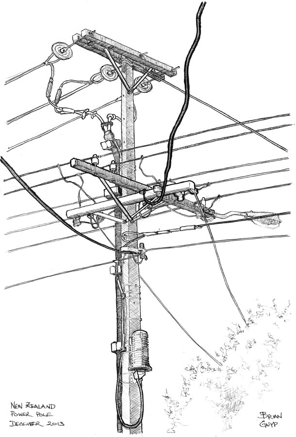 Telephone Pole Wires Diagram