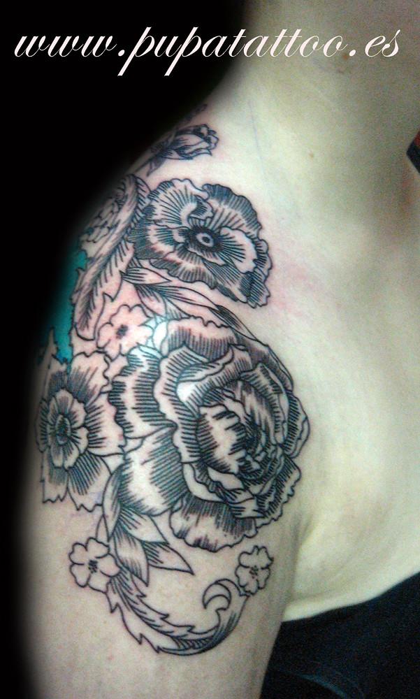 Tatuaje Flores Vintage Pupa Tattoo Granada Pupa Tattoo A Flickr