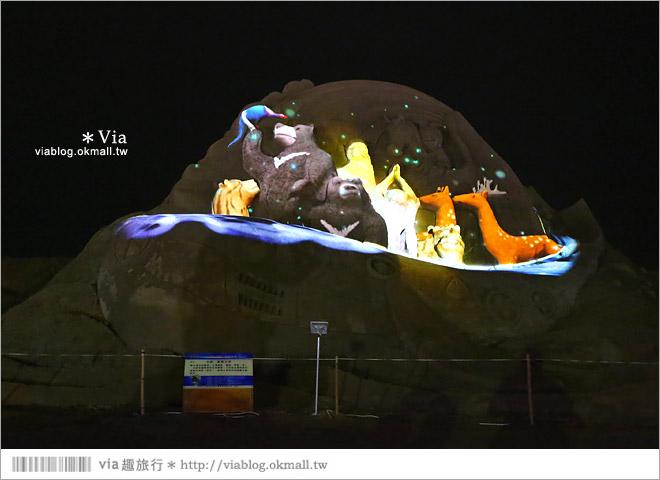 【2014台灣燈會在南投】南投沙雕燈會~夜間點燈好浪漫!還有精彩光雕秀27