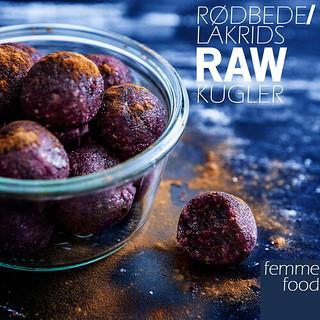 Rødbede/lakrids rawkugler
