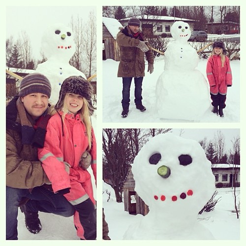 These two made the most awesome snowman!