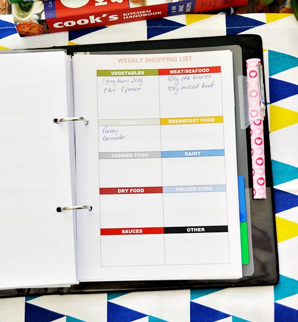 photograph about A5 Planner Printables named Sport . Organised] Free of charge Printables upon Dinner Coming up with
