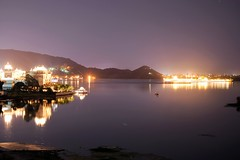 Udaipur lake night shot, India