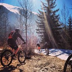 Winter MTB Ride Le Bourg d'Oisans