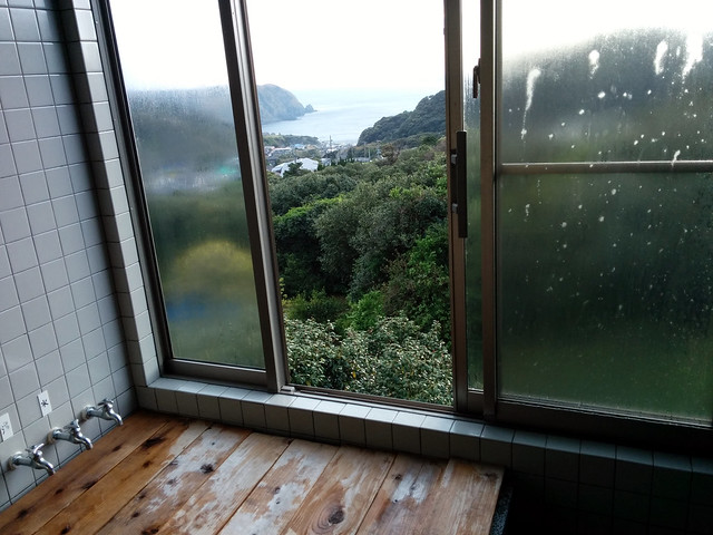 View from the bath 1, Shuusoo Ryokan, Kozushima Island, Japan