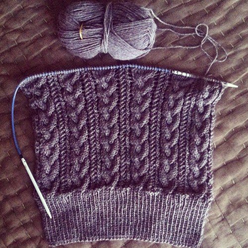 Cafe au Lait cardigan in progress