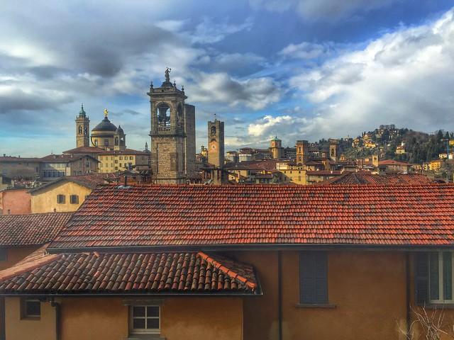 Vistas de Bérgamo desde La Rocca