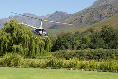 Fantasy Cars helicopter Robinson R 44 II, Stark-Condé Wines