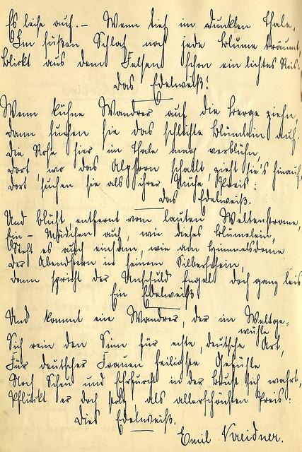 Edelweiss Emil Kreidner Poesie Poesiealbum alte deutsche Schrift Kurrent Kurrentschrift Sütterlin Sütterlinschrift schreiben lesen