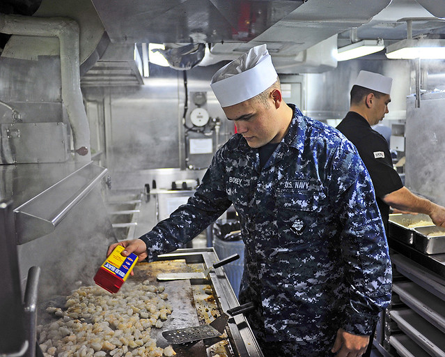 Lunch Time Onboard Uss Blue Ridge