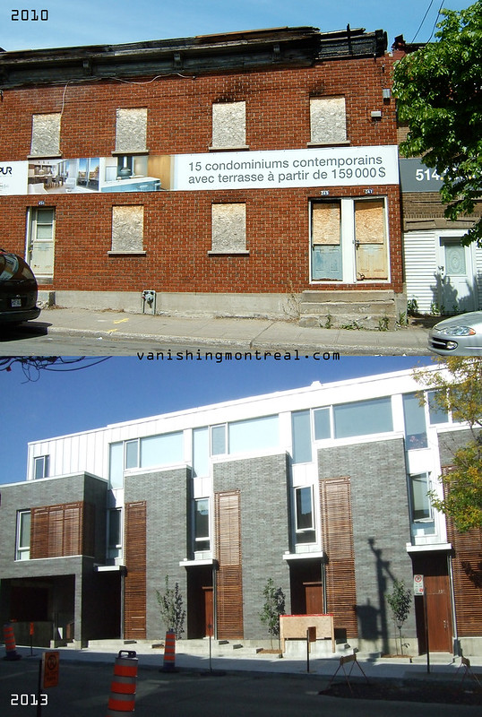 Before / After :  Dilapidated houses on St-Augustin in St-Henri