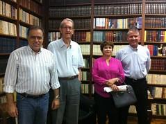Visita do Frei Claudio ao Deputado Paulo Abi-Ackel